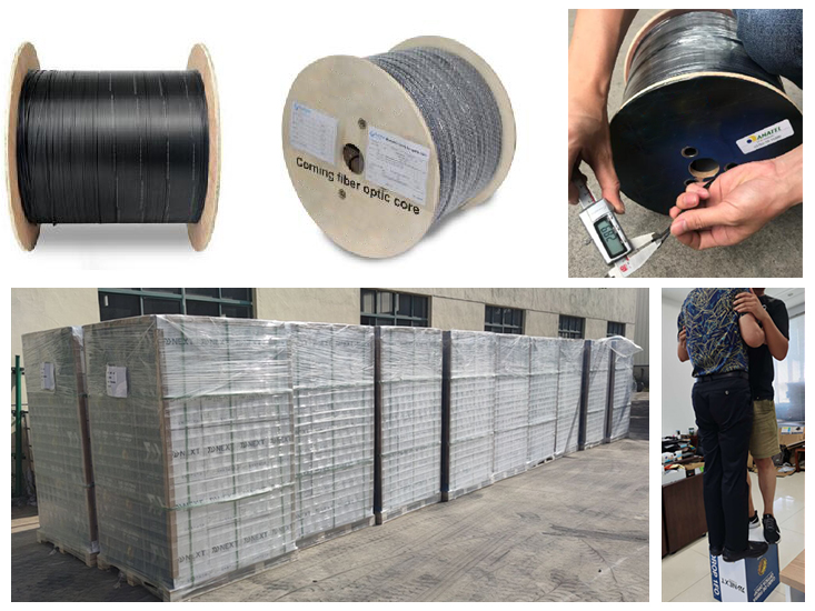 ftth drop cable packaging shipping